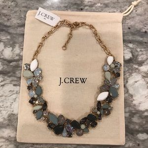 NWT JCREW statement necklace Gray,White,Silver